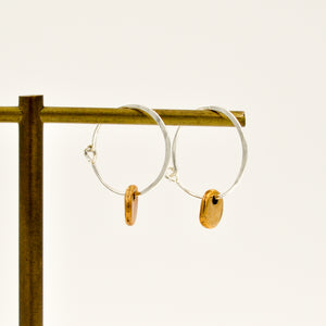 Hoop Earrings With Disc