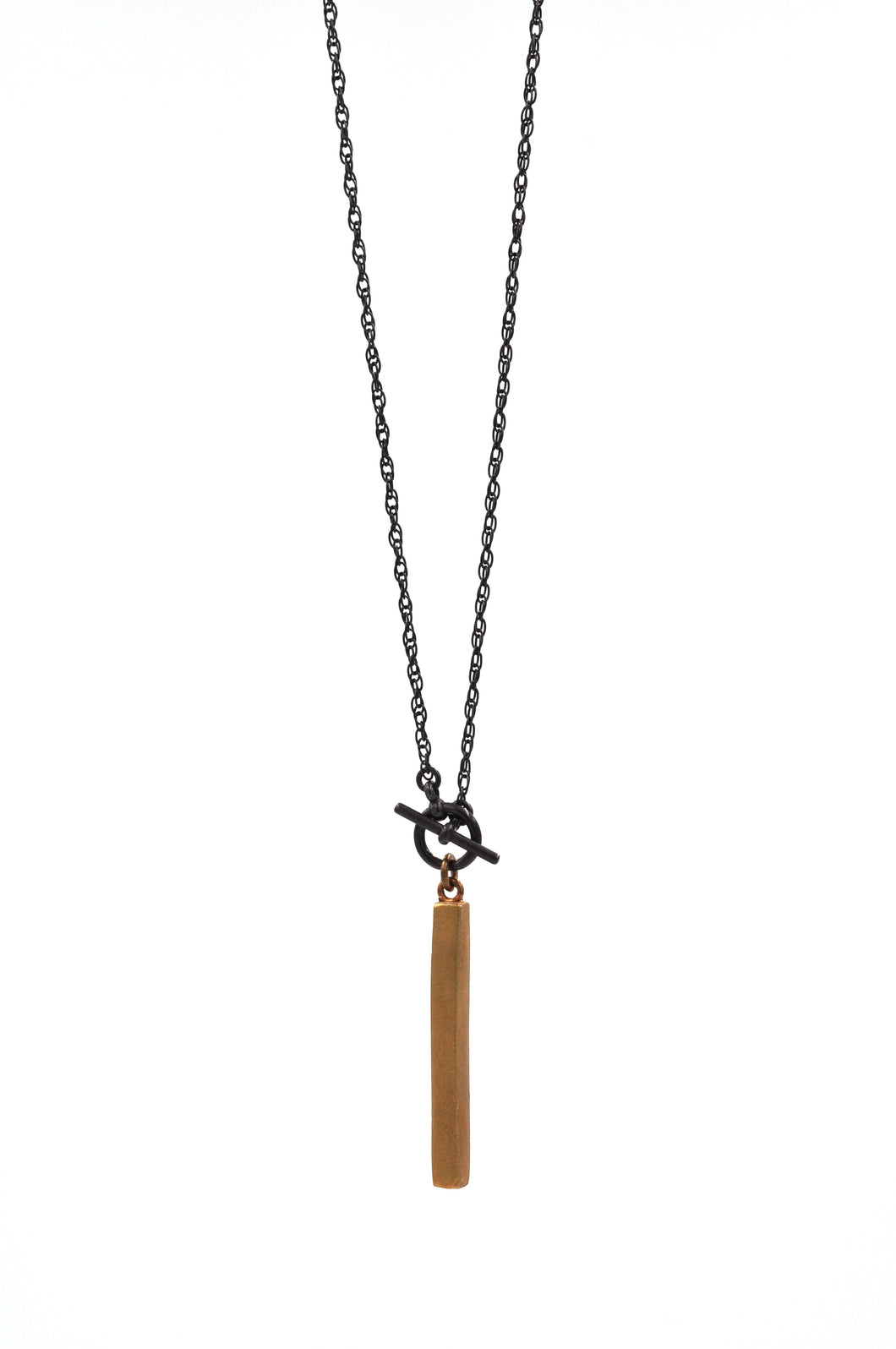 Edgy Long Bar Necklace