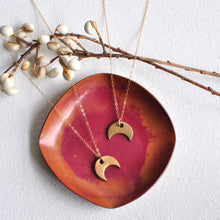 Load image into Gallery viewer, Mini Bronze Crescent Necklace