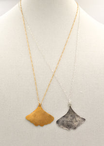 Long Ginkgo Leaf Necklace
