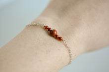 Load image into Gallery viewer, Sunstone and Sterling Bracelet