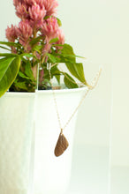 Load image into Gallery viewer, Petite Cicada Wing Necklace