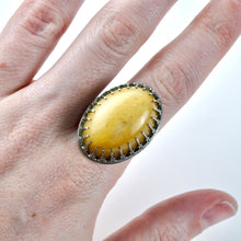 Load image into Gallery viewer, Sterling & Yellow Aventurine Statement Ring - Size 8