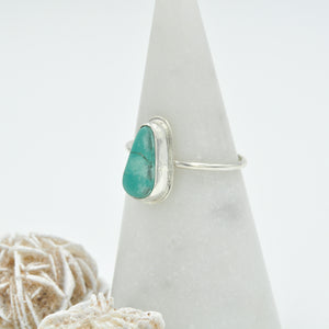 Morning Star Turquoise Stacker Ring - Size 10