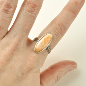 Spiney Oyster Shell Ring - Size 9