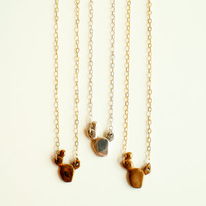 Petite Prickly Pear Cactus Necklace
