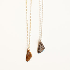 Petite Cicada Wing Necklace