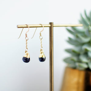 Iolite Drop Dangles