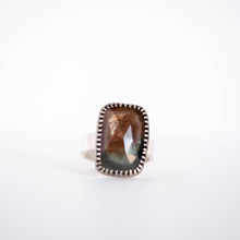 Load image into Gallery viewer, Rectangle Faceted Sapphire Ring - Size 8