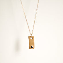 Load image into Gallery viewer, Tiny Bronze Tag Necklace