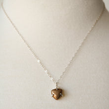Load image into Gallery viewer, Prong Set Bronze Triangle Necklace