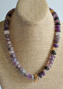 Raw Fluorite Beaded Statement Necklace