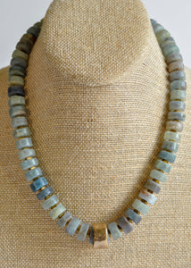 Apatite Beaded Statement Necklace