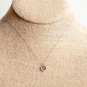 Tiny Button Necklace