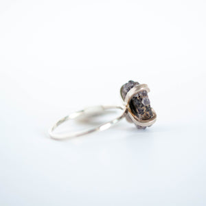Purple Stalactite Slice Ring - Size 9-1/2