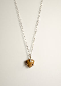 Prong Set Bronze Triangle Necklace
