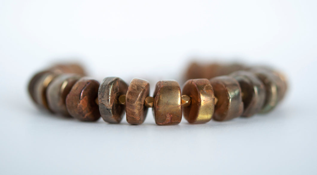 Golden Labradorite Beaded Bracelet