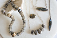Load image into Gallery viewer, Long Chunky Labradorite Necklace