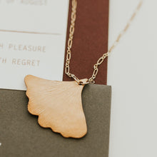 Load image into Gallery viewer, Long Ginkgo Leaf Necklace