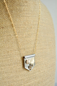 Saguaro Cactus and Moon Banner Necklace