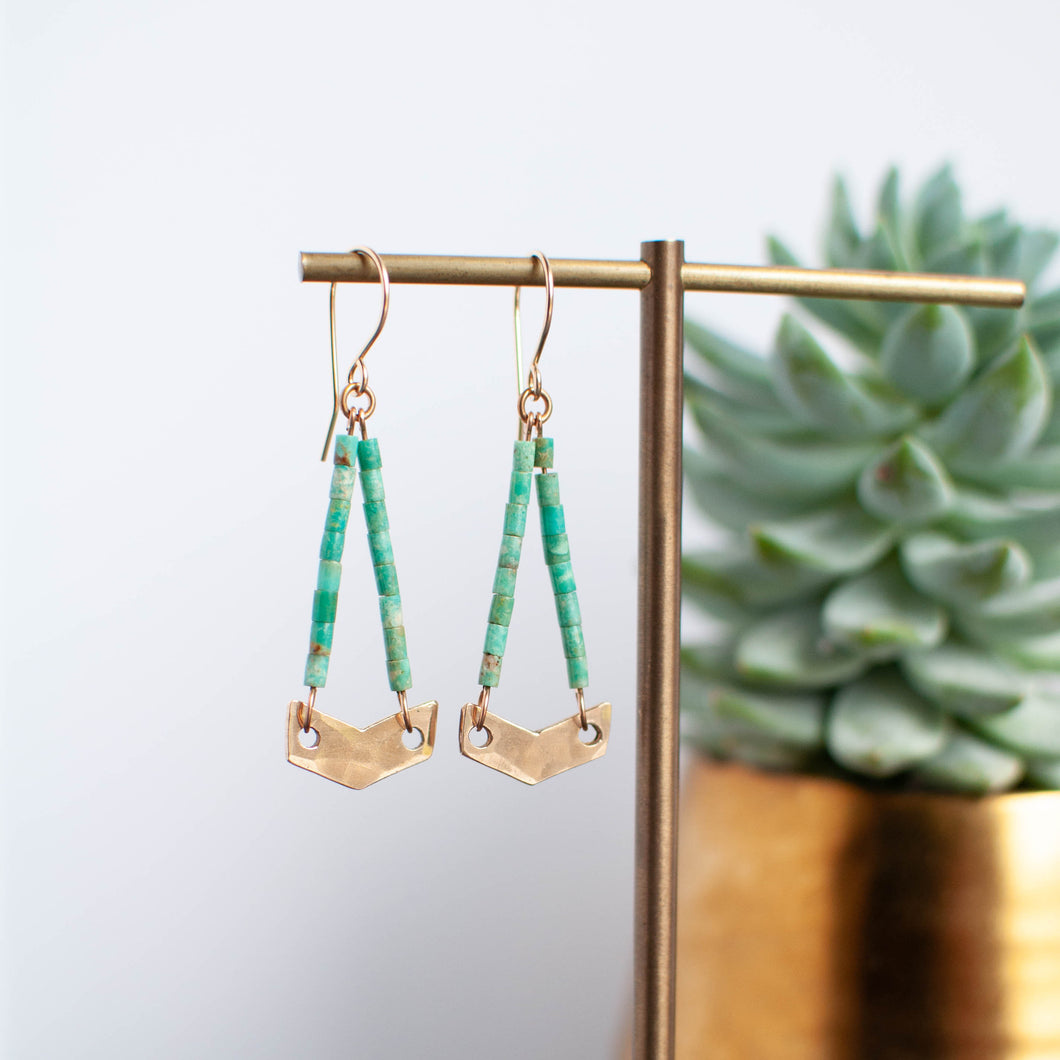 Bronze Chevron Earrings