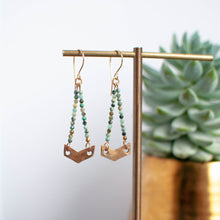 Load image into Gallery viewer, Bronze Chevron Earrings