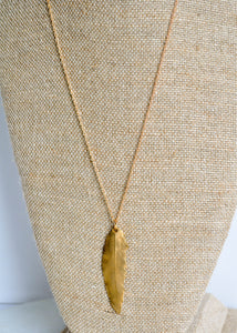 Bronze Feather Necklace
