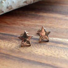 Load image into Gallery viewer, Bronze Star Cuff Links