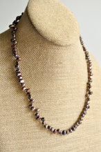 Load image into Gallery viewer, Purple Freshwater Pearl Silk Knotted Necklace