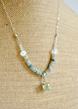 Load image into Gallery viewer, Prehnite and Boulder Opal Necklace