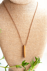 Bronze Floating Bar Necklace