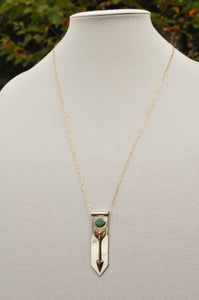 Arrow Banner Necklace with Morning Star Turquoise