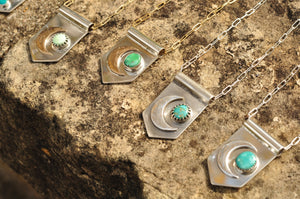 Moon Banner Necklace with Morning Star Turquoise I