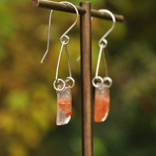 Load image into Gallery viewer, Faceted Lepidocrocite Quartz Statement Earrings