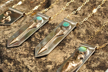 Load image into Gallery viewer, Arrow Banner Necklace with Morning Star Turquoise