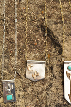 Load image into Gallery viewer, Saguaro Cactus and Moon Banner Necklace