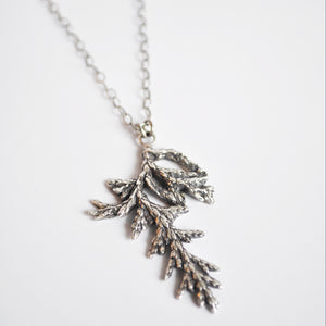 Large Evergreen Sprig Necklace
