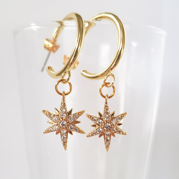 Étoiles brillantes earrings