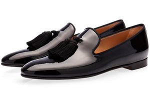 Scarpe - LOUIS PATENT BLACK SLIPPERS