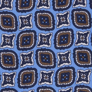 Cravatta in Seta - LIGHT BLUE MEDALLION