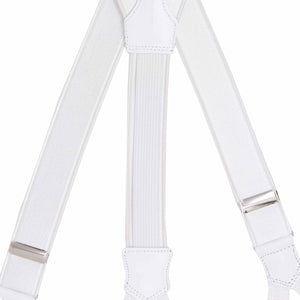 Bretelle Classiche - WHITE WITH BRAID