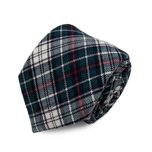 Cravatta in Lana - GREEN-RED CHECK TARTAN