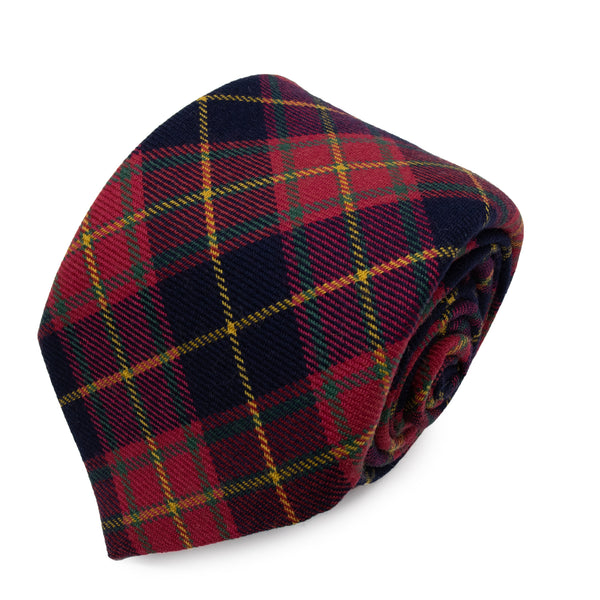 Cravatta in Lana - RED-YELLOW CHECK TARTAN