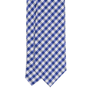 Cravatta in Seta - NAVY BLUE CHECK SAVILE ROW
