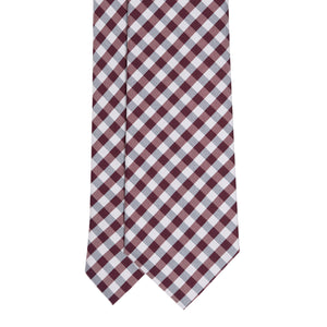 Cravatta in Seta -  BORDEAUX CHECK SAVILE ROW