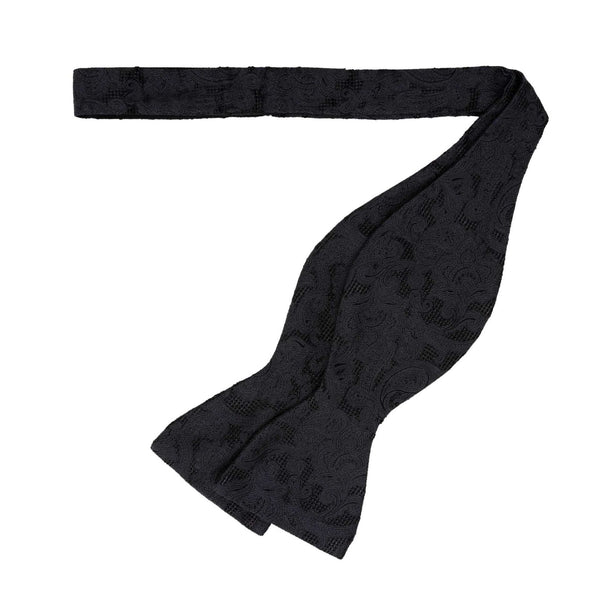 Papillon in Seta - BLACK JACQUARD SELF-TIED CLASSIC