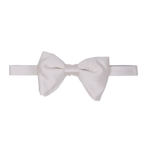 Papillon in Raso - WHITE PRE-TIED BUTTERFLY