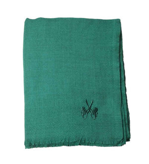 Sciarpa in Cashmere – EMERALD GREEN DIAMOND