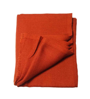 Sciarpa in Cashmere – ORANGE RED DIAMOND