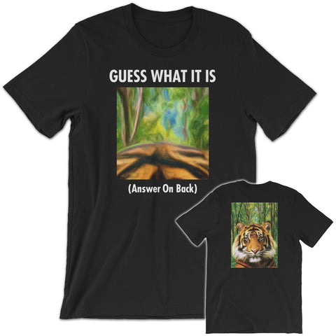 GUESS THAT TIGER Unisex Short-Sleeve T-Shirt Black